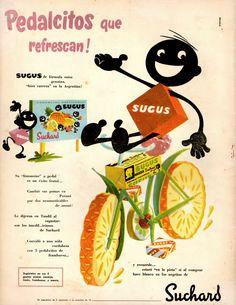 Publicidad Caramelos Sugus, década del '50