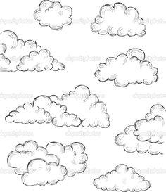 Unduh – Hand drawn clouds — Stok Ilustrasi Unduh – Hand drawn clouds — Stok Ilustrasi This image. Pencil Art Drawings, Doodle Drawings, Art Drawings Sketches, Easy Drawings, Doodle Art, Doodle Frames, Sketch Cloud, Cloud Drawing, Painting & Drawing