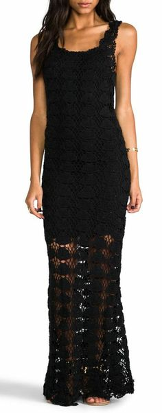 Boho Lace Maxi Dress...if the liner went all the way down it'd be perfect.