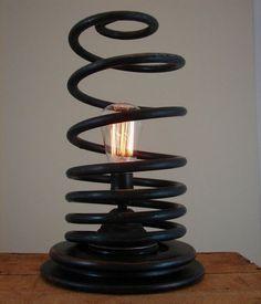 Upcycled Automotive Part Light Bulb