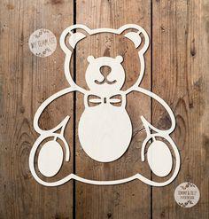 3 x Teddy Bear SVG PDF Designs by TommyandTillyDesign on Etsy