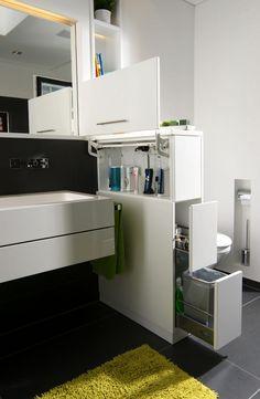 Finde Moderne Badezimmer Designs In Weiß: Raumteiler Als Raumwunder.  Entdecke Die Schönsten Bilder Zur
