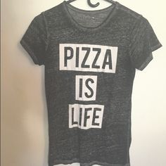 Pizza is my life shirt I've only worn it once. Remember I do bundle deals and ship fast!⭐️All my items prices are negotiable let me now if you want me to create your own personal bundle Target Tops Tees - Short Sleeve
