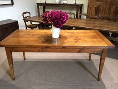 Introducing Antique Cherry double draw leaf table.