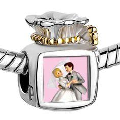 Pugster Two Tone Money Bag Wedding Cake Couple Photo Beads Fits Pandora Charm Chamilia Biagi Bracelet Pugster. $14.49. Metal: Two Tone. Size (mm): 9.46*8.73*12.41. Weight (gram): 5.2. Color: