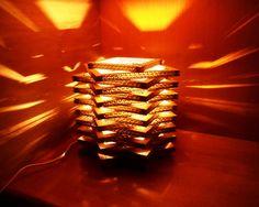 DIY Cardboard lampshade