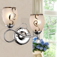 Modern Double Heads Crystal Wall Light For Living Room Bedroom Bedside Lamps E27 LED Glass Lampshade 90~260v Sconce WWL120 #Affiliate