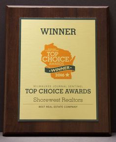 """Shorewest has recently been announced the winner for the 2016 Milwaukee Journal Sentinel Top Choice Awards in the """"Real Estate"""" category! """"We would like to thank the entire Metro Milwaukee community for their support of Shorewest, REALTORS®. We are humbled and honored to be recognized, and it is truly the members of our Shorewest family that provide exceptional customer care that deserve this award."""" - Joe Horning, President of Shorewest, REALTORS®"""