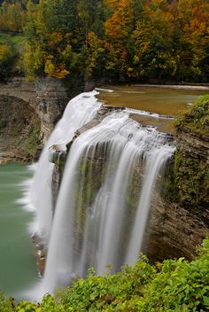 Middle Falls, Letchworth State Park, New York. HC