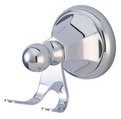 Elements of Design EBA4817C Double Hook Robe Hook from the New York Collection Chrome Accessory Robe Hook