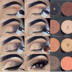 Eyeshadow tutorial – Glitz and Glamour Makeup Eyeshadow tutorial Eyeshadow tutorial Makeup 101, Makeup Hacks, Makeup Inspo, Makeup Brushes, Beauty Makeup, Hair Makeup, Eye Brushes, Makeup Geek, Makeup Tutorials