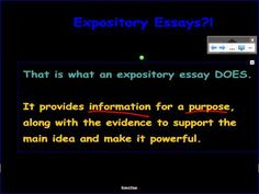 We write expository essays to provide information for a purpose. Information sharing is vital, and the key to a great expository essay is to provide excellent relevant supporting evidence.