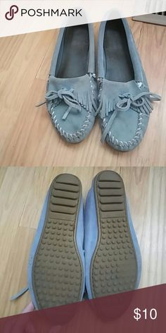 Blue Minnetonka Moccasins June 2017
