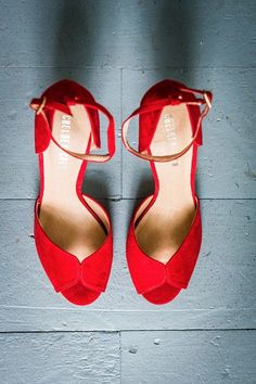 red shoes Quiet Wedding In The Woods that proves that a small wedding can be just as fabulous and a big one. Photography by Every Studios. Red Wedding Shoes, Designer Wedding Shoes, Red Bridal Shoes, Wedding Heels, Toms Shoes Outlet, Wedding In The Woods, Wedding Day, Wedding Venues, Summer Wedding