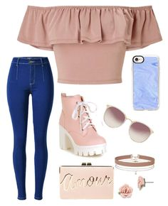 """""""Sem título #1"""" by lunnabooks ❤ liked on Polyvore featuring Miss Selfridge, BCBGMAXAZRIA, Casetify, Linda Farrow and 1928"""