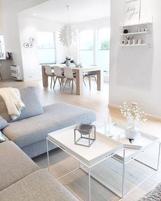 Amazing Diy Ideas: Minimalist Home Scandinavian Grey modern minimalist interior showers.Colorful Minimalist Home Scandinavian Interiors minimalist bedroom boho blue.Minimalist Home Design Room Ideas. Home Living Room, Living Room Designs, Living Room Decor, Dining Room, Room Kitchen, Kitchen Living, Modern Scandinavian Interior, Nordic Interior, Scandinavian Living Rooms