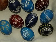 Traditional Lithuanian Easter eggs (decorated by me)