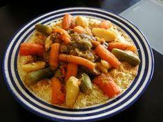 Couscous aux légumes à la marocaine avec Thermomix, une spécialité Marocaine et un plat national apprécié par tout le monde