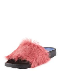Get free shipping on Stuart Weitzman Delano Fluffy Fur Flat Slide Sandal at Neiman Marcus. Shop the latest luxury fashions from top designers. Fringe Boots, Donna Karan, Fur Slides, Slide Sandals, Leather Sandals, Stuart Weitzman, Neiman Marcus, Catwalk, Luxury Fashion