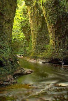 The enchanted Finnich Glen ~ Loch Lomond, Scotland