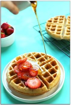 The Very Best Fluffy Vegan Waffles Veggie Desserts. The Best 100 Buckwheat Waffles {Gluten Free} Meaningful . Home and Family Dairy Free Waffles, Gluten Free Oats, Gluten Free Recipes, Vegan Recipes, Egg Free Waffle Recipe, Waffle Recipes, Pancake Recipes, Crepe Recipes, Sem Gluten Sem Lactose