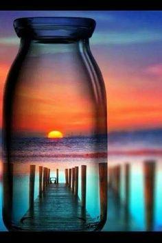 Sunrise Thur a jar