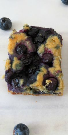 Blueberry Coffee Cake - A light, fluffy, healthy cake chock full of juicy blueberries.  11/2 cup whole wheat pastry flour 1 tsp baking powder 1/4 tsp baking soda 1/2 tsp salt 2 tbsp coconut oil (melted) or canola oil 1/3 cup sugar (I used stevia) 1/4 cup egg substitute or 1 egg 1 tsp vanilla extract 1/2 cup unsweetened almond milk or non-fat milk 1 cup blueberries fresh or frozen 1 tbsp Sugar raw oven @375F
