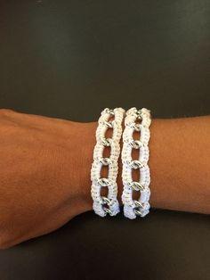 Tuto  facile bracelet au crochet                                                                                                                                                      Plus