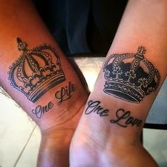 king and queen crowns together tattoos - Google Search