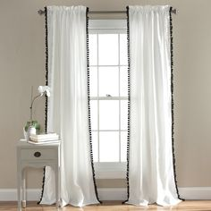 """Lush Decor Pom Curtain 