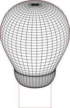 BULB 3D Illusion LED light vector file