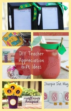 A great round up of DIY Teacher Gift and crafts Ideas for Teacher Appreciation week.