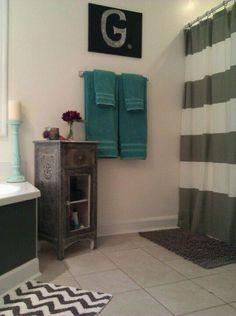 Teal Gray White Bathroom Master Bath And Master Bedroom Bathroom