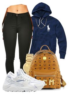 """ I'm gone keep grinding cause I love this "" by mindlesspolyvore ❤ liked on Polyvore featuring Polo Ralph Lauren, Case-Mate, Movado, MCM, NIKE and Sterling Essentials"