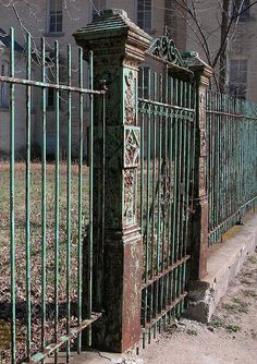 Traverse City State Hospital. This gate stands between the old asylum and the commuter parking lot for my job.  by sunliner500, via Flickr