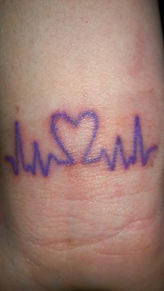 My FIRST ever tattoo! In honor of my daughter and the other Epilepsy warriors! Purple brain waves and heart! Music Tattoos, Cute Tattoos, New Tattoos, Tatoos, Awareness Tattoo, Epilepsy Awareness, Epilepsy Tattoo, Purple Ribbon Tattoos, Hand And Finger Tattoos