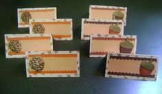 8 Handmade Acorn and Pinecone Thanksgiving Place Cards by mbreed57, $8.00