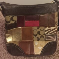 "Excellent ""Like New"" Coach Vintage Excellent condition Patchwork Cross Body puede.  Very clean all around, Only used a few times. Coach Bags Crossbody Bags"