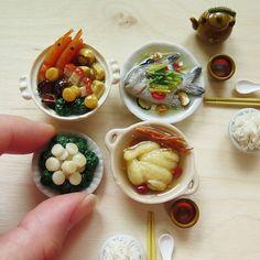 Some of my handmade food miniatures