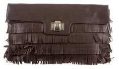 Kate Spade New York Fringe Leather Clutch
