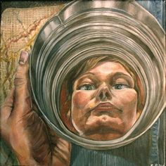 distorted reflections and portraiture artwork - good idea for Photo too Reflection Art, Perspective Art, Reflection Drawing, Surreal Art, Water Art, Portraiture, College Art, Reflection Painting, Art Portfolio