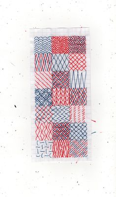 """lie-dirkx: """" Embroidery tests on paper """""""