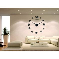 Veľké okrúhle zrkadlové hodiny gerula . Nálepka na stenu .