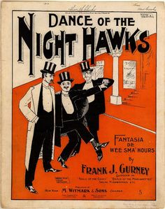 Dance of the night hawks; Fantasia de wee sma' hours (a0057) - Historic American Sheet Music - Duke Libraries
