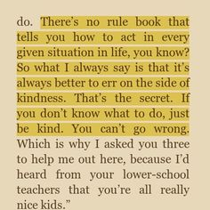 """bookworm221: """" Quote from The Julian Chapter by RJ Palacio """" #ChooseKind"""
