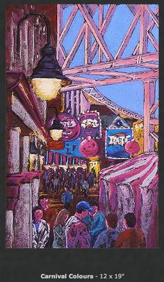 Dave Denson: pastel Pastel, Artists, Painting, Cake, Painting Art, Paintings, Painted Canvas, Crayon Art, Artist