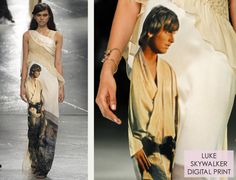 Star Wars and Smocking at Rodarte | The Cutting Class. Rodarte, AW14, New York, Image 19. Very, very cool dress with Luke Skywalker! :)