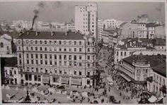 1935. Hotel Capitol, Calea Victoriei Bucharest Romania, Beautiful Stories, Old City, Retro, Paris Skyline, Amen, Tourism, Louvre, Memories
