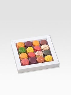 Richart Classic #Macarons $39 This selection of mini gourmet French macarons - or macaroons! - is perfect for great occasions as it gathers all of Richart's permanent collection's flavors. Ideal to share between friends or to offer, this selection will take you on a sensory journey to enjoy textures, tastes and wonderful aromas.
