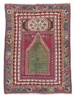 KIRŞEHÍR prayer rug, second half of century. 165 x 122 cm. Long Rug, Prayer Rug, Tribal Rug, Vintage Rugs, Rugs On Carpet, Turkish Rugs, Bohemian Rug, Hand Weaving, Prayers